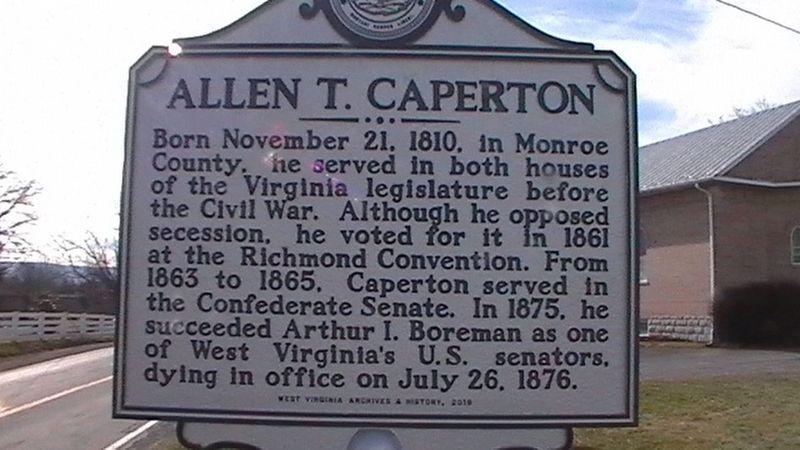 Allen T  Caperton Historical Marker