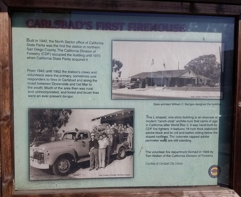 Carlsbad's First Firehouse Historical Marker