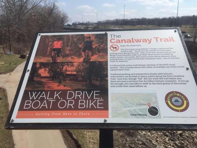 The Canalway Trail Historical Marker