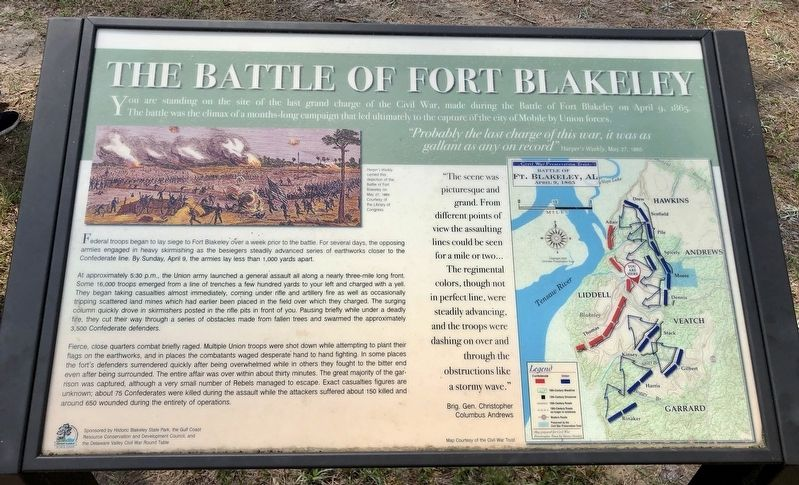 The Battle of Fort Blakeley Historical Marker on battle of games, west florida maps, battle of social media, american revolutionary war maps, valley forge maps,