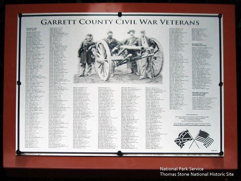 Garrett County Civil War Veterans, a War Memorial