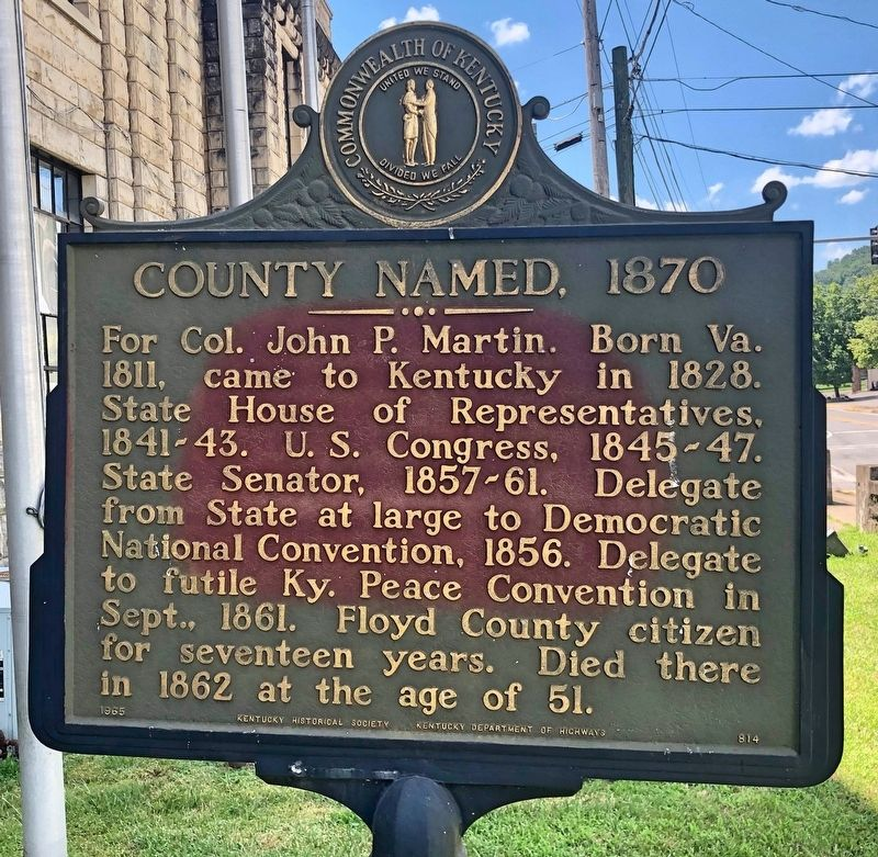 County Named, 1870 / Henry L  Clay, D D  Historical Marker