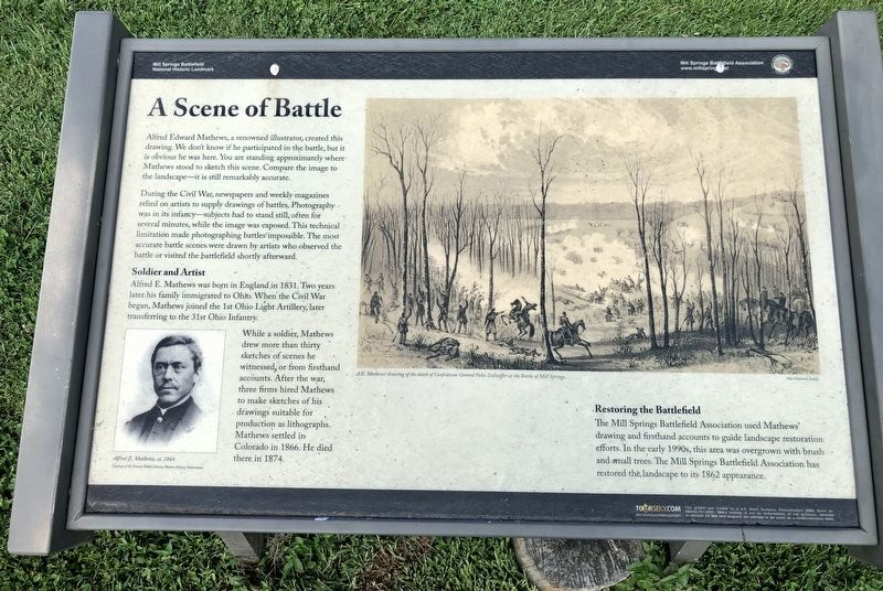 A Scene of Battle Historical Marker