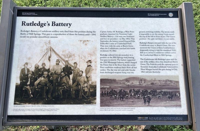 Rutledge's Battery Historical Marker