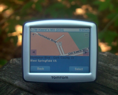 TomTom showing a marker