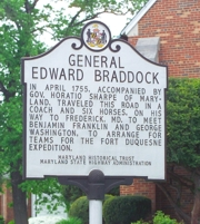 General Edward Braddock Marker