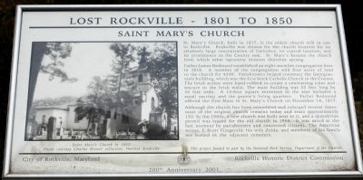 Saint Mary's Church Marker image. Click for full size.