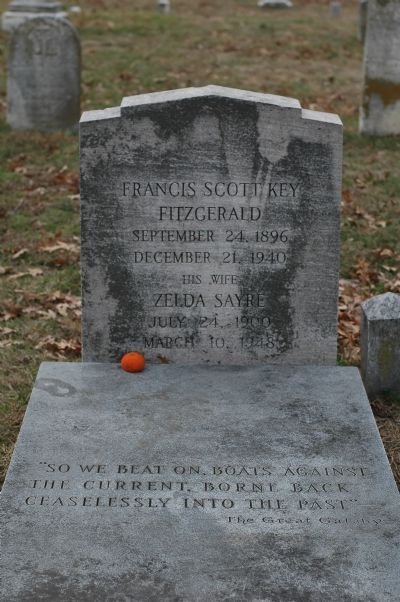 F. Scott Fitzgerald's and His Wife Zelda's Gravestones image. Click for full size.