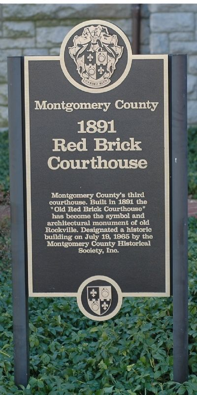 1891 Red Brick Courthouse Marker image. Click for full size.