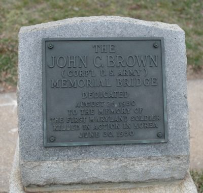 John C. Brown Memorial Bridge Marker image. Click for full size.
