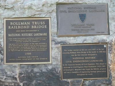 Other Bollman Iron Truss Bridge Markers image. Click for full size.