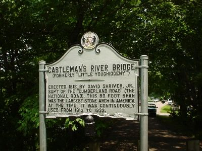 Castleman's River Bridge Marker image. Click for full size.
