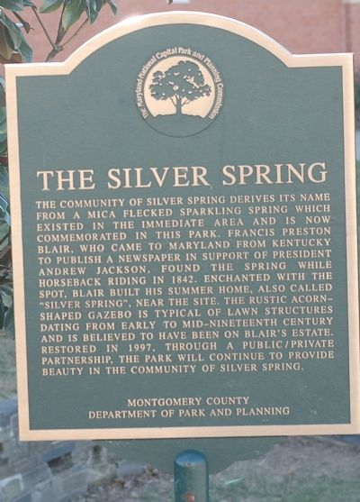 The Silver Spring Marker image. Click for full size.