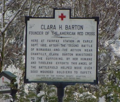Clara H. Barton Marker image. Click for full size.