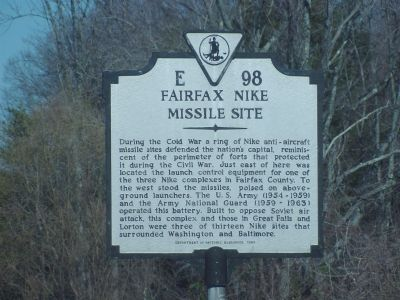 Fairfax Nike Missile Site Marker image. Click for full size.