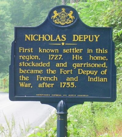 Nicholas Depuy Marker image. Click for full size.