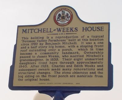 Mitchell-Weeks House Marker image. Click for full size.