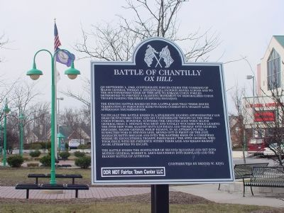 Battle of Chantilly Marker image. Click for full size.