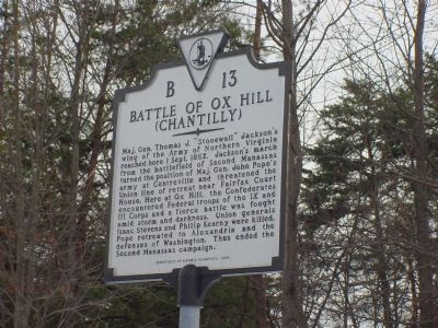 Battle of Ox Hill Marker image. Click for full size.