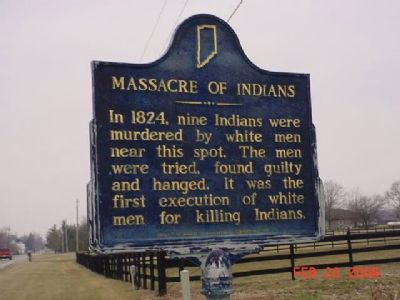 Massacre of Indians Marker image. Click for full size.