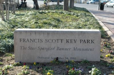 Francis Scott Key Park Namestone image. Click for full size.