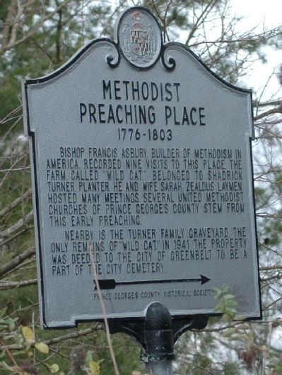 Methodist Preaching Place Marker image. Click for full size.