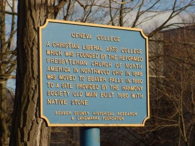 Geneva College Marker image. Click for full size.