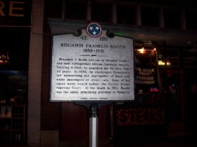 Benjamin Franklin Booth Marker image. Click for full size.