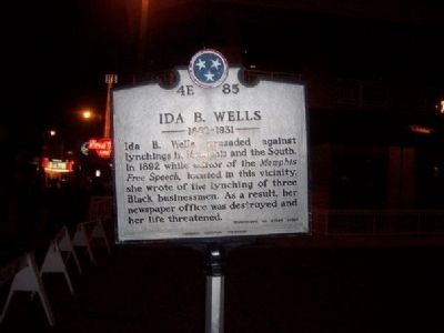 Ida B. Wells Marker image. Click for full size.