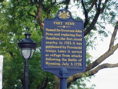 Fort Penn Marker image. Click for full size.