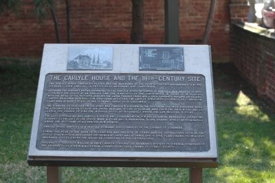 The Carlyle House and the 18th-Century Site Marker image. Click for full size.