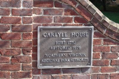 Carlyle House Plaque image. Click for full size.