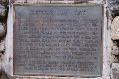 Sutter's Mill Site Marker image. Click for full size.