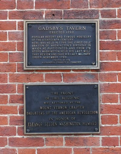 Gadsby's Tavern Marker image. Click for full size.
