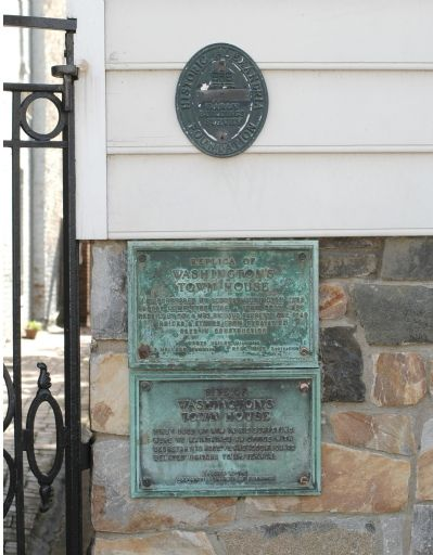 Washington's Town House Marker image. Click for full size.