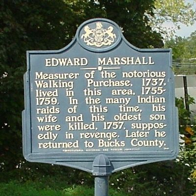Edward Marshall Marker image. Click for full size.