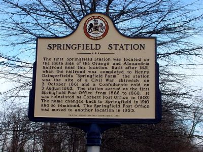Springfield Station Marker image. Click for full size.