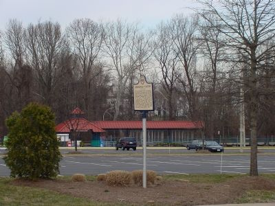 Marker and VRE's Backlick Road Station image. Click for full size.