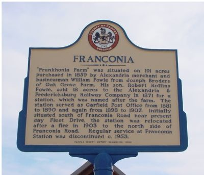 Franconia Marker image. Click for full size.