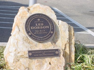 Les Dorson Memorial at the Base of the Marker image. Click for full size.