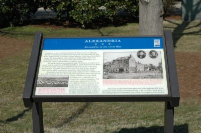 Alexandria in the Civil War Marker image. Click for full size.