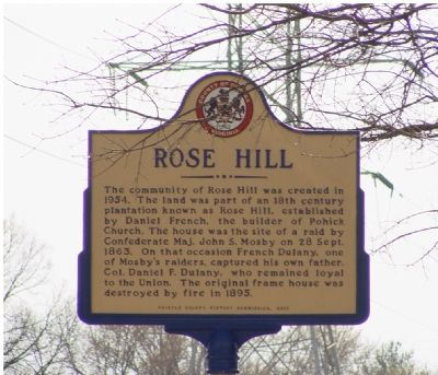 Rose Hill Marker image. Click for full size.