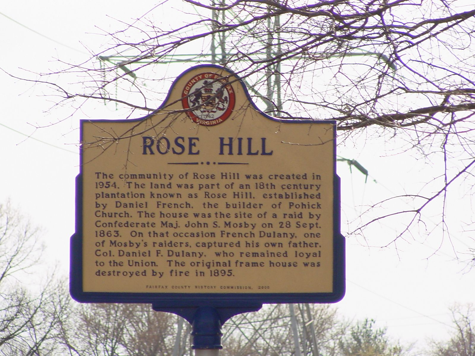 Rose Hill Marker