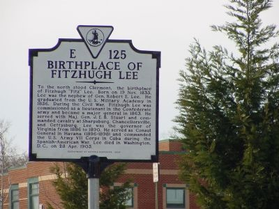 Birthplace of Fitzhugh Lee Marker image. Click for full size.