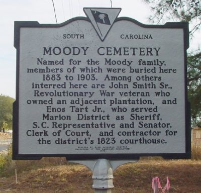 Moody Cemetery Marker image. Click for full size.