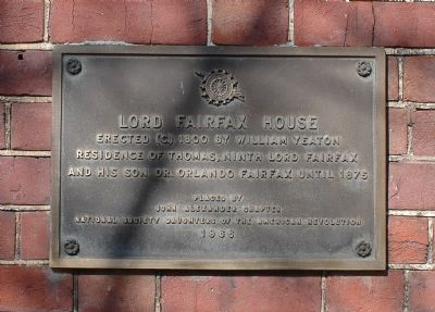 Lord Fairfax House Tablet image. Click for full size.