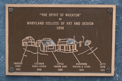 The Spirit of Wheaton Brass Tablet No. 1 image. Click for full size.