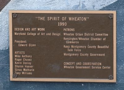 The Spirit of Wheaton Brass Tablet No. 2 image. Click for full size.