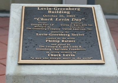 Levin-Greenberg Building Marker image. Click for full size.