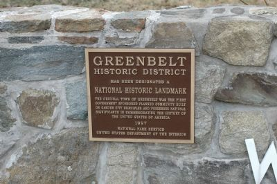 Greenbelt Historic District Marker image. Click for full size.
